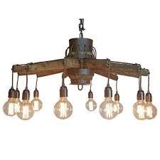 wagon wheel lighting. bream unique lighting kildare wagon wheel pendant timber