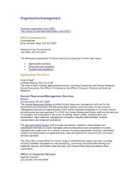 Organization Management Minnesota Department Of Human