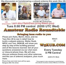 tune in this week to radio roundtable at 8 00 pm central at w5kub com