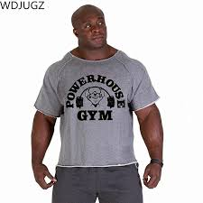 new men s shirts golds npc powerhouse gorilla wear fitness bodybuilding workout clothes terry cotton high elastic t shirt tourist shirt fun tee from