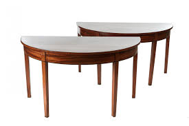Bronze Embossed Metal Arched Colonnade Demilune Table Shades Of