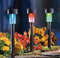 color changing solar pathway lights