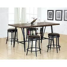 Wine Rack Dining Room Furniture With Wine Rack 5 Piece Pub Set