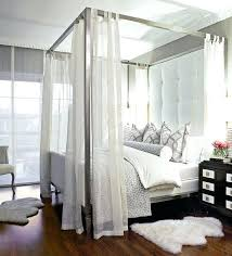 Canopy Bed Frame Queen With Storage Home Regard To Elegant House ...