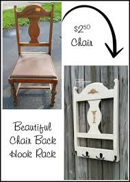 repurposed chair back coat rack this diy project creates a new coat rack from an old chair see the step by step tutorial to make your own