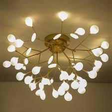 nordic firefly led chandelier lighting living room gold metal led ceiling chandeliers lights acrylic chandelier lamp fixtures chandeliers chandeliers