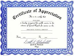 Free Appreciation Certificate Templates Free Download Sample Certificate Appreciation Save Certificate 1