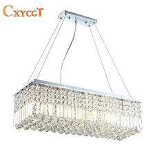 pendant light fitting long size rectangle crystal pendant light fitting crystal chandelier ceiling suspension lamp for pendant light fitting