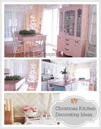 Christmas Kitchen Christmas Kitchen Decorating Ideas White Lace Cottage
