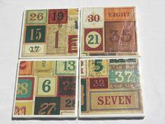 Decorative Tile Coasters 100 Tile Coasters in Vintage Abroad Theme by fromdirttodiamonds 30