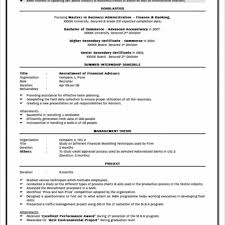 Sample Mba Resume For Freshers Fred Resumes Format Pdf Example Essay