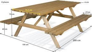 Plan Table De Jardin En Bois Meilleures Images D Inspiration