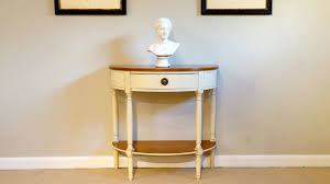 half moon console table. Painted Half Moon Console Table - Front View E