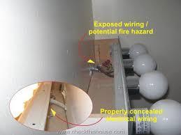 imagine these fixtures flush against the wall enter image description here