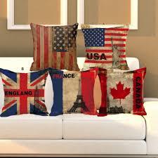 Kissenbezug Usa Die Vereinigten Königreich Französisch Kanada Flagge
