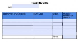Hvac Invoice Templates Beauteous Free HVAC Invoice Template Excel PDF Word Doc