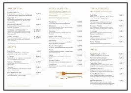 Menu at Machiavelli restaurant, Berlin