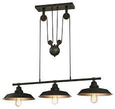 chrome chandelier industrial globe pendant lighting 3 light