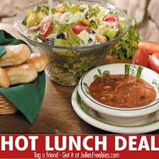 here is an offer where you can get unlimited soup salad and breadsticks for only 6 99 at olive garden this offer is valid this week only through may 9