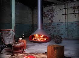 ergofocus ceiling hung wood fireplace