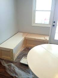 diy breakfast nook with storage bench kitchen ikea diy breakfast nook crammed kitchen furniture white benches with table projects designs