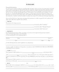 Sublease Form Lease Agreement Free Monthly Rental Commercial Sublet