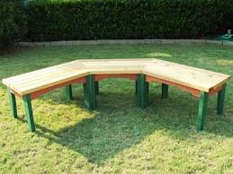 How To Build A Semi-Circular Wooden Bench How-tos DIY - HD Wallpapers