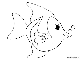Small Picture Tropical fish coloring page