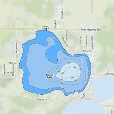 Round Lake Fishing Map Us_mi_80_318 Nautical Charts App