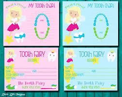 Tooth Fairy Receipt Tooth Chart Boys And Girls Tooth Fairy Kit Lost Tooth Receipt Kids Tooth Fairy Certificate Instant Download Diy