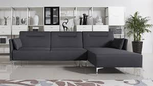 modern grey sectional sofas. Perfect Sofas Divani Casa Rixton Modern Grey Fabric Sofa Bed Sectional In Sofas R