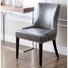 nailhead trim dining chairs innovative abbyson living sienna leather chair from