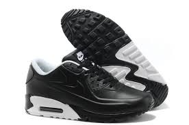 nike air max 90 top layer leather mens black white trainers uk