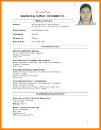 Resume Sample Format Pdf Gulijobs Com