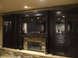 custom cabinets around a fireplace