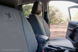 black duck canvas seat covers toyota hilux workmate sr single cab 7 2016 on grey