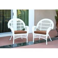 white wicker furniture. Modren Wicker Wicker Chair With Cushions Set Of 2 To White Furniture W