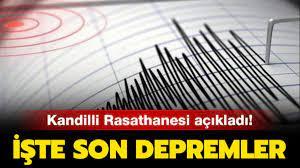 İşte gerçekleşen son depremler