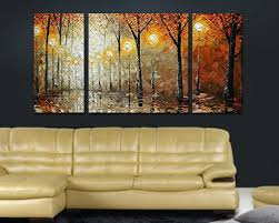 cherish art 100 hand painted oil paintings gift forest 3 panels wood inside framed hanging wall decoration