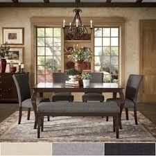 Pranzo Rectangular 66-inch Extending Dining Table and Set with Cabriole Legs by iNSPIRE Q Buy Cherry Finish Kitchen \u0026 Room Sets Online at Overstock.com