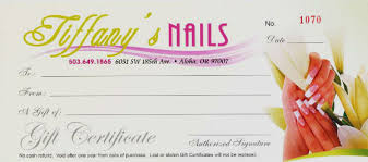 gift certificate template for nail salon ftempo
