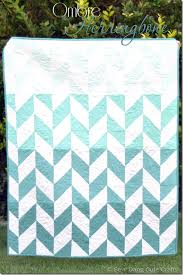 45 Free Easy Quilt Patterns - Perfect for Beginners - Scattered ... & Ombre Herringbone Quilt Adamdwight.com