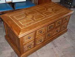 lot 483 modern malabar hardwood coffee table enclosing 20 drawers marks