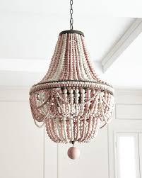 malibu pink wood beads chandelier