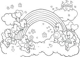the rainbow fish coloring page coloring page rainbow all the happy care bear weling the rainbow