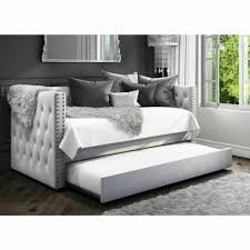 sacha velvet sofa bed with trundle bed