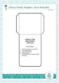 Pocket Template Free Library Card Book Pocket Template Printable Card Book