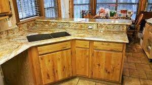 Colonial Gold Granite Kitchen Geriba Gold Granite Neutral Rustic Kitchen Remodel Granite