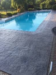 stamped concrete pool deck and patio
