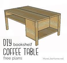 built in bookshelf coffee table